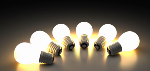 lightbulbs for start-up mindset