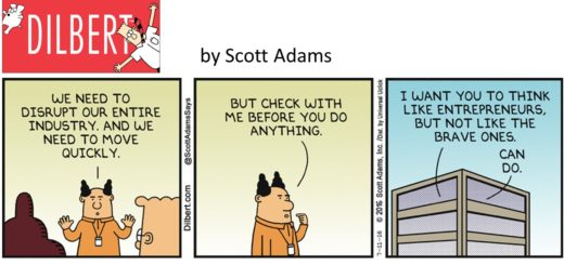 Dilbert - Act like Entrep